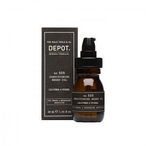 DEPOT 505 conditioning beard oil leather&wood