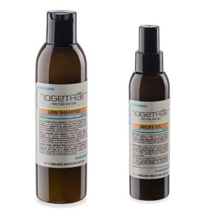Togethair Meet The Sun zestaw Low Shampoo + Milky Oil